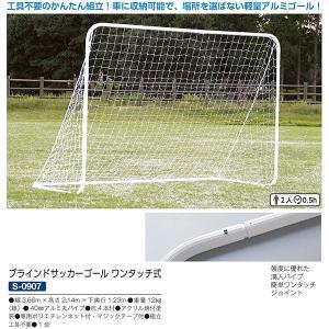 三和体育 学校 体育 ミニサッカーゴール 練習 ブラインドサッカーゴール ワンタッチ式 S-0907 <2019NEW>