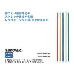 三和体育 体操棒 100cm (5色組) S-1846 <2019CON>|jpn-sports