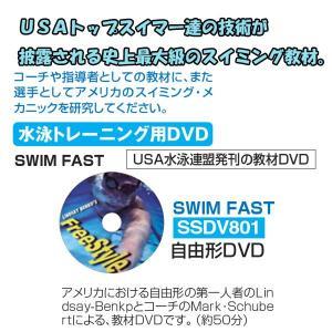 秦運動具工業 CD&DVD スイミング教材 水泳トレーニング DVD SWIM FAST 自由形 SSDV801 <2019CON>