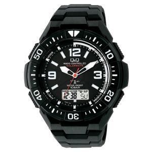シチズン 腕時計 キューアンドキュー 電波ソーラー クロノグラフ 10気圧防水 MD06-305 メンズ|jpowerclub