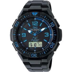 シチズン 腕時計 キューアンドキュー 電波ソーラー クロノグラフ 10気圧防水 MD06-335 メンズ|jpowerclub