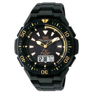 [シチズン キューアンドキュー]CITIZEN Q&Q 電波ソーラー腕時計 SOLARMATE (ソーラーメイト) アナログ表示 クロノグラフ機能付|jpowerclub