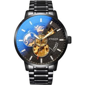 BesTn出品 腕時計 機械式 メンズ 自動巻き スポーツ ビジネス 凸凹 格好良い アンティーク 夜光|jpowerclub