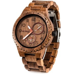 Bewell 腕時計 木製 メンズ 日本製クオーツ アナログ 日付き 夜光 男性用 ヴィンテージ 復古 木製腕時計 誕生日ギフト クリスマスプレゼン|jpowerclub