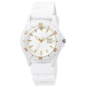 CITIZEN Q&Q 腕時計 アナログ表示 カラーウォッチ VR38 (ホワイト/ゴールド)|jpowerclub