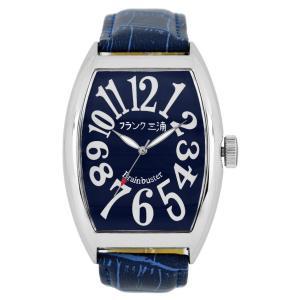 [フランク三浦]FRANKMIURA 腕時計 六号機 マグナム 革ベルト ネイビー FM06K-NV メンズ|jpowerclub