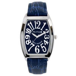 [フランク三浦]FRANKMIURA 腕時計 零号機 グレコローマンスタイル400戦無敗 記念モデル 革ベルト ネイビー FM00K-NV|jpowerclub