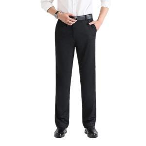 送料無料 ロングパンツ メンズ ビジネスパンツ スーツパンツ ズボン スラックス スリム アウトドア...