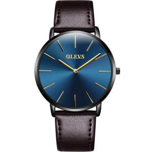 【2019最新型】腕時計 メンズ 極薄型 6.5MM シンプル ファッション カジュアル ビジネス ウオッチ 日本製クォーツムーブメント 40mm|jpowerclub