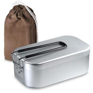 SPACEEN メスティン 飯盒 炊飯 シェラカップ キャンプ用品 調理器具 ケース 付き|jpowerclub
