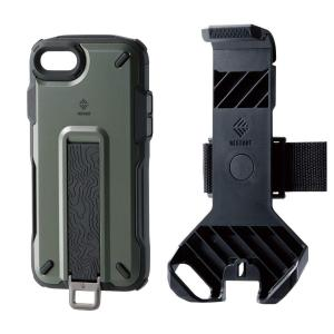 エレコム iPhone 8 / iPhone 7 ケース アウトドア NESTOUT Trekking 指を通せるベルト付 [すばやく着脱可能な専用|jpowerclub