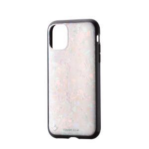 エレコム iPhone 11 ケース 耐衝撃×美質感 TOUGH SLIM [貝殻のようなきらめき] ホワイト PM-A19CTSJWH|jpowerclub