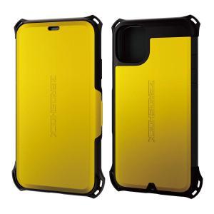 エレコム iPhone 11 ケース ZEROSHOCK 衝撃吸収 [落下時の衝撃から本体を守る] フラップタイプ イエロー PM-A19CZERO|jpowerclub