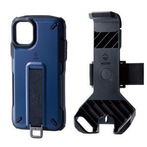 エレコム iPhone 11 ケース アウトドア NESTOUT Trekking 指を通せるベルト付 [すばやく着脱可能な専用ホルダー付属] ネイ|jpowerclub
