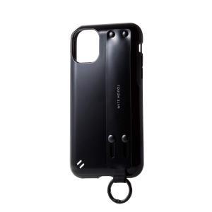 エレコム iPhone 11 ケース 耐衝撃×ハンドベルト TOUGH SLIM [持ちやすく手になじむ] ハンドベルト付 ブラック PM-A19C|jpowerclub