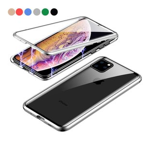 HiChilli 透明 液晶9Hガラス携帯電話 ケース に適し 360度 前面と背面 強化ガラス 磁気吸着 金属フレーム カバー 完全保護 耐衝撃|jpowerclub