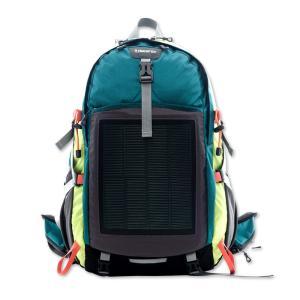 登山バッグ ソーラー登山バッグ スマホ充電 モバイルバッテリー USB接続充電 最新テクノロジー スマートフォン充電 3色(グリーン)|jpstars