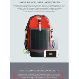 登山バッグ ソーラー登山バッグ 2USB充電 最新テクノロジー スマートフォン充電 3色(レッド)|jpstars