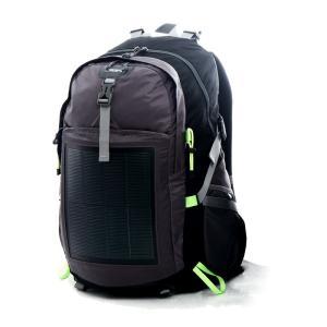 登山バッグ ソーラー登山バッグ 2USB充電 最新テクノロジー スマートフォン充電 3色(ブラック)|jpstars