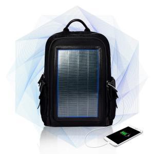 リュック メンズ ソーラーバックパック ソーラーリュック ビジネス 通学通勤旅行出張 USB充電口付き 太陽光発電 ソーラーパネル付き (ブラック)|jpstars