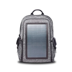 リュック メンズ ソーラーバックパック ソーラーリュック ビジネス 通学通勤旅行出張 USB充電口付き 太陽光発電 ソーラーパネル付き(グレー)|jpstars
