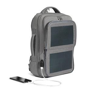 リュック メンズ ソーラーバックパック ソーラーリュック ビジネス 通学通勤旅行出張 USB充電口付き 太陽光発電 ソーラーパネル付き|jpstars