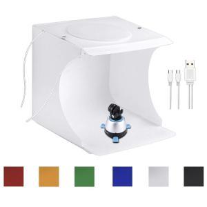 Slow Dolphin 撮影ブース カメラ スマホ用写真撮影用 簡易スタイジオ LEDライト付き USB電源|jpstars