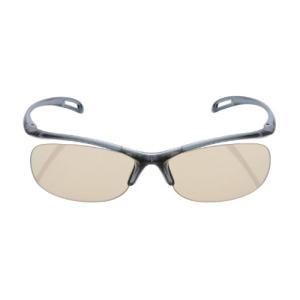 エレコム ブルーライト対策眼鏡 日本製 超吸収 ブラウンレンズ ネイビー OG-YBLP01NV
