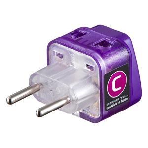 サンワサプライ 世界の特殊な電源プラグ形状に変換できるアダプタ(Cタイプ)差込口は全世界対応のため、...