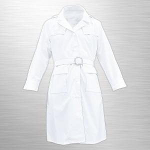 【女性交通指導員・警備員用レインコート】 #4040F 白色レインコート(女性用)レインウェア/雨具/カッパ/【耐水圧14000mm】 jpu-shop