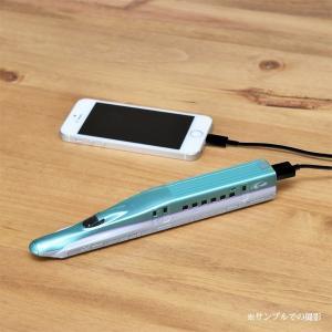 スマートフォン・iPhone モバイルバッテリー新幹線型充電器もちてつ E5 はやぶさ型 3200mAh|jr-ems