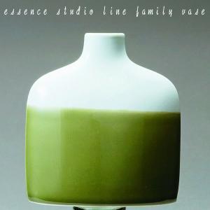 九州 お土産 西海陶器 ファミリーベース グリーン F   42241  花瓶  essence studio line family vase 波佐見焼  はさみ焼き  常温|jrk-shoji