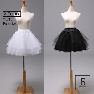 パニエ 大人 インナースカート 4段 インナーパニエ フリーサイズ ペチコート インナー チュチュスカート ボリューム チュール ボリュームアップ JSファッション