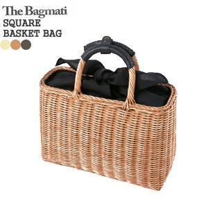 【2018SS】バグマティ/The Bagmati スクエアかごバッグ ハンドバッグ ラタン素材 レザーハンドル SQUARE BASKET BAG BBK17-04|jscompany-store