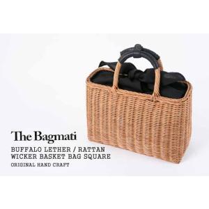 【2018SS】バグマティ/The Bagmati スクエアかごバッグ ハンドバッグ ラタン素材 レザーハンドル SQUARE BASKET BAG BBK17-04|jscompany-store|03