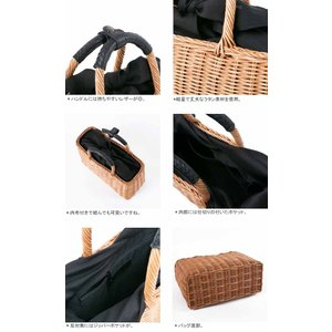【2018SS】バグマティ/The Bagmati スクエアかごバッグ ハンドバッグ ラタン素材 レザーハンドル SQUARE BASKET BAG BBK17-04|jscompany-store|04