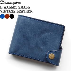 ダマスキーナ/DAMASQUINA Hウォレットスモール レザーウォレット 二つ折り財布 H WALLET SMALL 700059311 メンズ レディース|jscompany-store