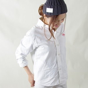 ダントン/DANTON オックスフォード長袖シャツ 丸衿ポケット付きシャツ OXFORD LONG SLEEVE SHIRT JD-3580YOX レディース|jscompany-store