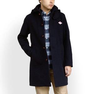 【先行予約受付中】ダントン/DANTON ウールモッサフード付きコート メルトンコート ロングコート WOOL MOSSER HOODED COAT JD-8454WOM メンズ|jscompany-store