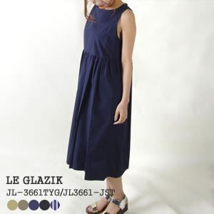 10%OFF ル グラジック/Le Glazik タイプライタークロス ノースリーブワンピース TYPEWRITER CLOTH NO SLEEVE ONEPIECE JL-3469TYW|jscompany-store