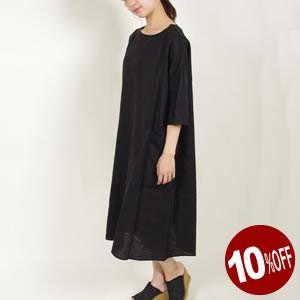 10%OFF ル グラジック/Le Glazik リネンクロス ポケット付きワンピース LINEN CLOTH POCKET ONEPIESE JL-3617KLS レディース|jscompany-store