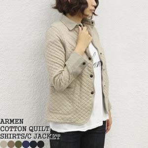 ポイント10倍 アーメン/ARMEN コットンキルティングシャツカラージャケット COTTON QUILT SHIRTS COLLAR JACKET NAM0202B|jscompany-store
