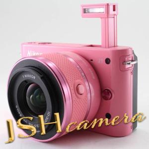 【中古】Nikon ミラーレス一眼カメラ Nikon 1 (ニコンワン) J1 (ジェイワン) 標準ズームレンズキット ピンク N1 J1HLK PK jsh