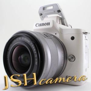 Canon ミラーレス一眼カメラ EOS Kiss M ホワイト レンズキット EF-M15-45 IS STM付属 EOSKISSMWH-1545ISSTMLK|jsh