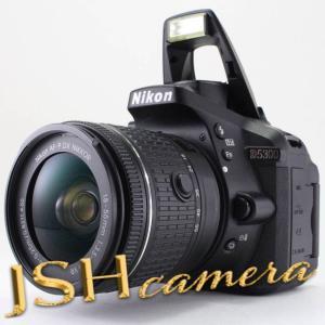 【中古】Nikon デジタル一眼レフカメラ D5300 AF-P 18-55 VR レンズキット ブラック D5300LKP18-55|jsh