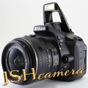 【中古】Nikon デジタル一眼レフカメラ D5300 18-55mm VR II レンズキット ブラック 2400万画素 3.2型液晶 D5300LK18-55VR2BK|jsh
