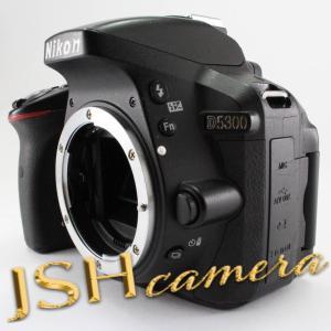 【中古】Nikon デジタル一眼レフカメラ D5300 ブラック 2400万画素 3.2型液晶 D5300BK|jsh