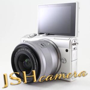 Canon ミラーレス一眼カメラ EOS M100 EF-M15-45 IS STM レンズキット(ホワイト) EOSM100WH1545ISSTMLK|jsh