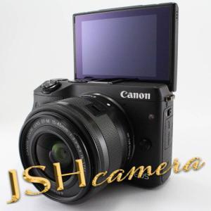 【中古】Canon ミラーレス一眼カメラ EOS M3 レンズキット(ブラック) EF-M15-45mm F3.5-6.3 IS STM 付属 EOSM3BK-1545ISSTMLK jsh