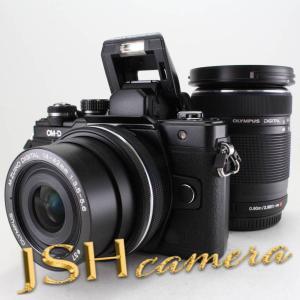 OLYMPUS ミラーレス一眼 OM-D E-M10 MarkII EZダブルズームキット ブラック|jsh